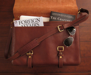 bag, book, and leather image