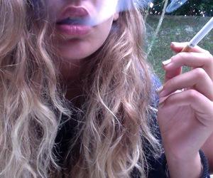 smoke, girl, and pale image