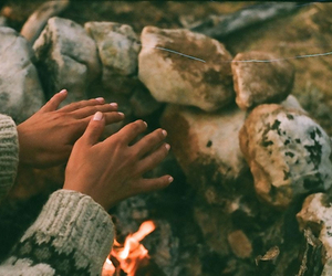 fire and hands image