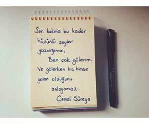 turkce, yazı, and mutsuz image