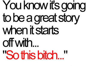 bitch, story, and quotes image