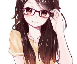 anime, glasses, and anime girl image