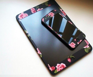 iphone, ipad, and flowers image