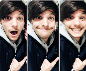 header, icons, and louis tomlinson image