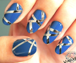 blue, stripes, and cute image