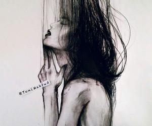 drawing, girl, and toni mahfud image