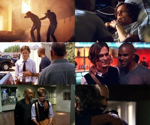 criminal minds, Reid, and derek morgan image