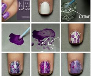 nail art, nails, and purple image