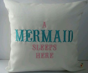 beach, mermaid, and pillow image