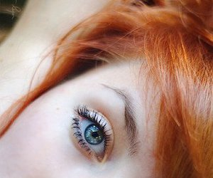 eyes, pretty, and red hair image