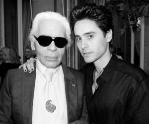jared leto and karl lagerfeld image