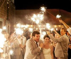 sparkler and wedding image