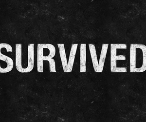 black and white and survivor image