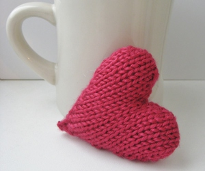 heart, hearts, and knitted image