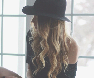girl, hairstyle, and long hair image
