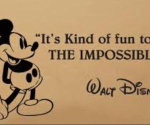 walt disney, quote, and impossible image