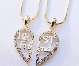 best friends, friends, and necklace image