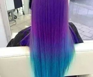 blue, purple, and hair image