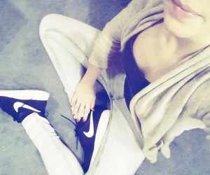 black&white, shoes, and girl image