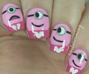 happy, minions, and pink image