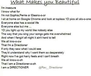 what makes you beautiful and one direction image