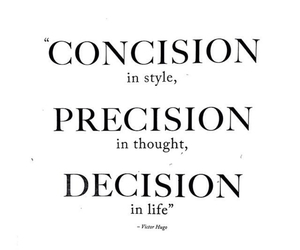 decision, precision, and concision image