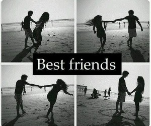 best friends, boy, and love image