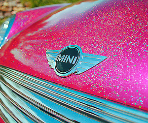 pink, car, and mini image
