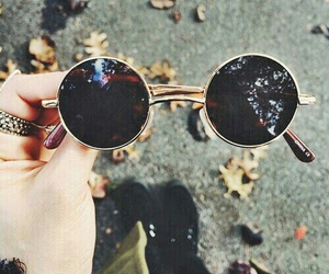 glasses, sunglasses, and hipster image