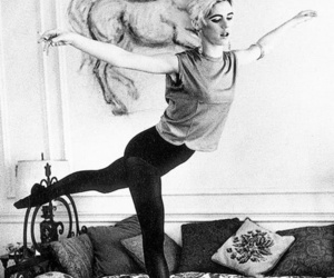 edie sedgwick and black and white image