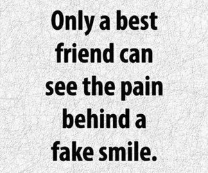 pain, best friends, and fake smile image