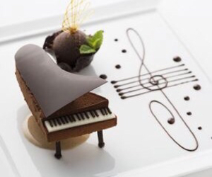 chocolate, piano, and food image