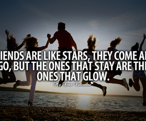 friends, quotes, and stars image