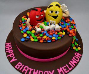 birthday, cake, and m&n's image