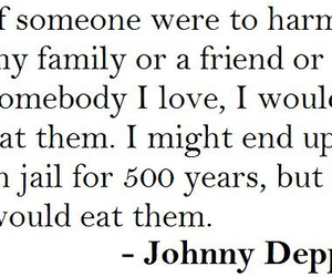 johnny depp, quote, and family image