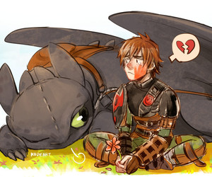disney, heart, and toothless image