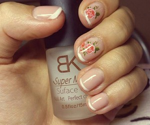 nails, roses, and french_manicure image