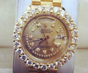 luxury, watch, and diamonds image