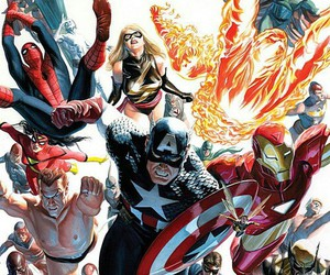 captain america, spiderman, and Marvel image