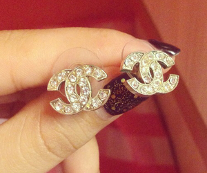 chanel, earrings, and love image