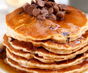 pancakes, food, and chocolate image