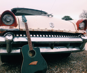 adventure, car, and guitar image
