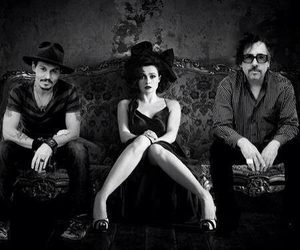 helena bonham carter, tim burton, and johnny depp image