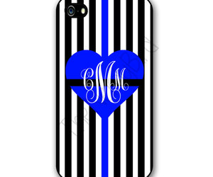 monogram, phone case, and police wife image