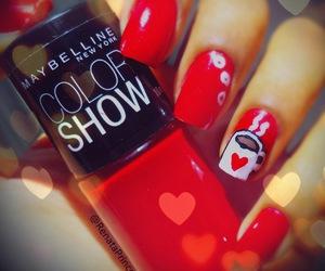 coffe, heart, and nail art image