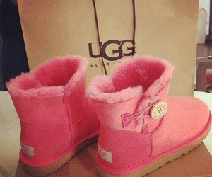 pink, ugg, and boots image