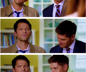dean winchester, Jensen Ackles, and castiel image
