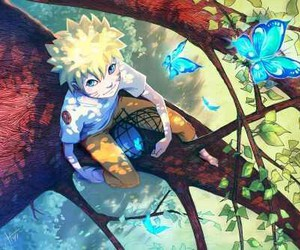 naruto, anime, and butterfly image