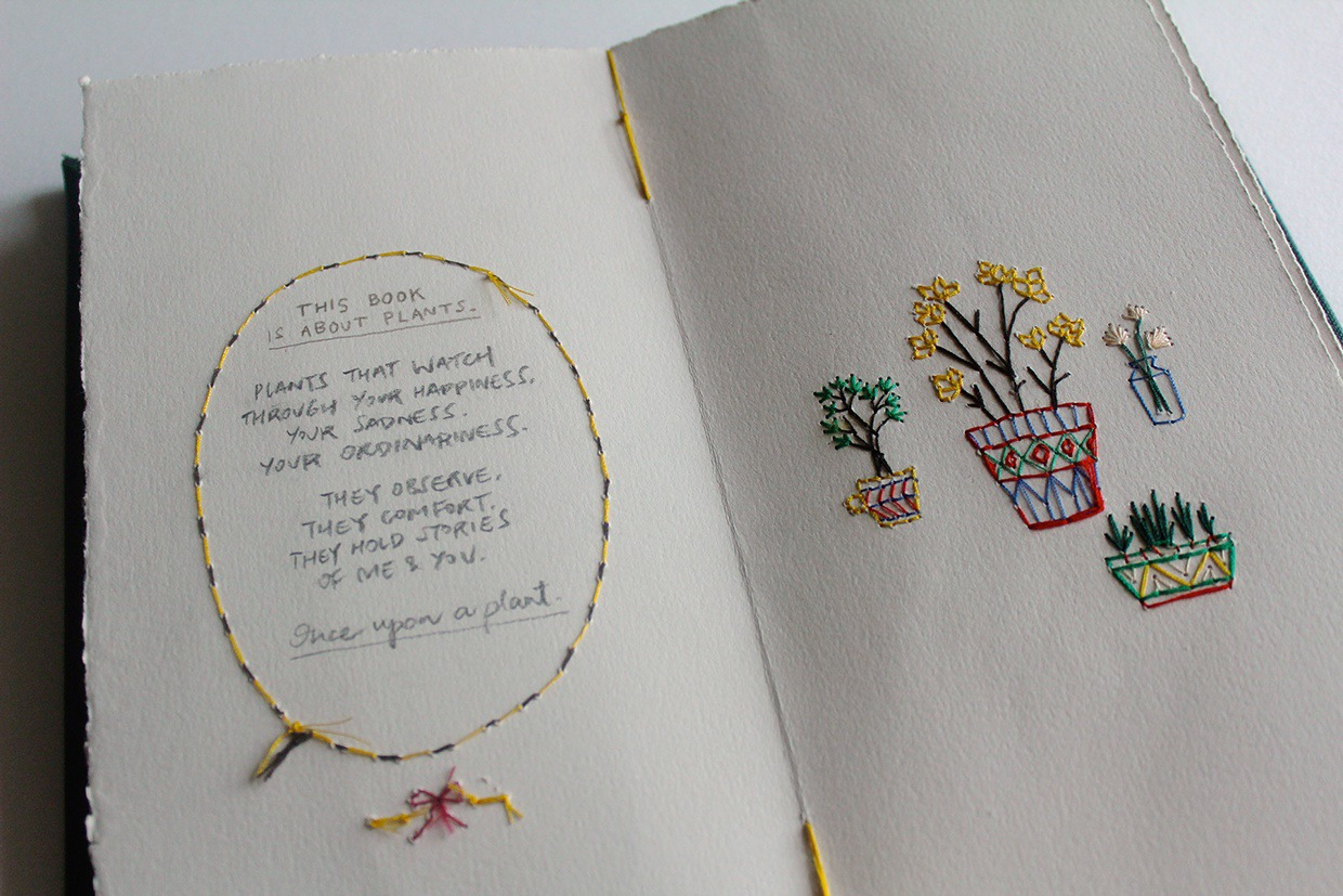 art, book, and embroidery image