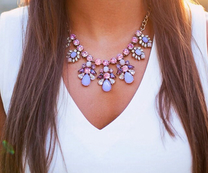 necklace, fashion, and girl image